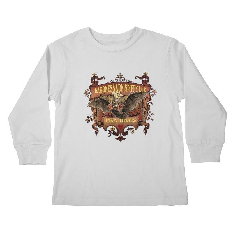 Tea Bats Baroness Von Spiffy Lux Kids Longsleeve T-Shirt by theatticshoppe's Artist Shop