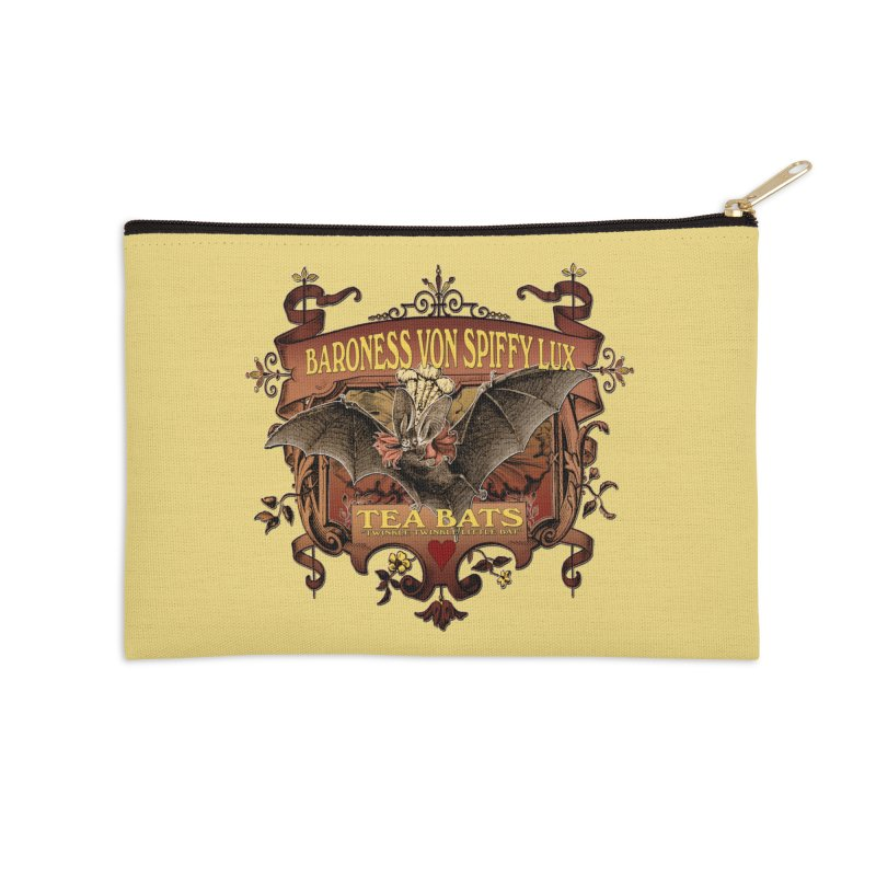 Tea Bats Baroness Von Spiffy Lux Accessories Zip Pouch by theatticshoppe's Artist Shop