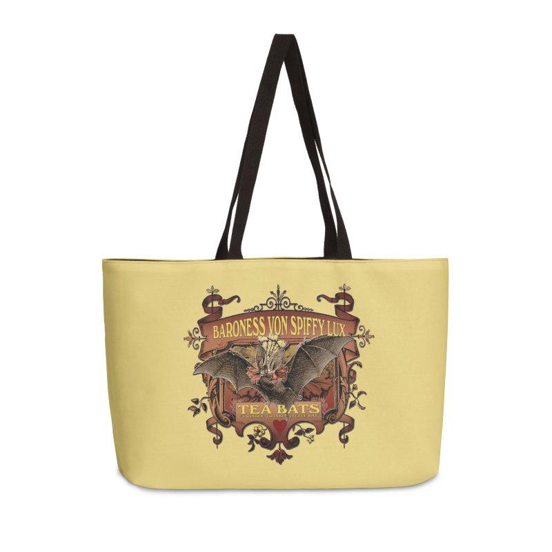 Tea Bats Baroness Von Spiffy Lux Accessories Weekender Bag Bag by theatticshoppe's Artist Shop