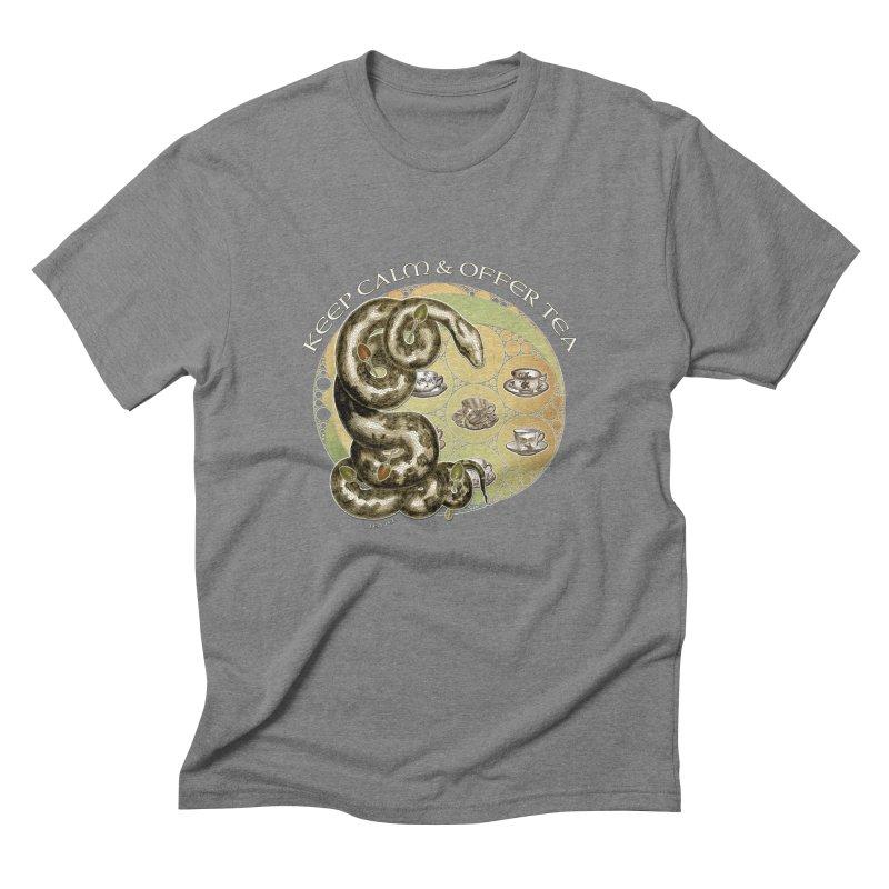 Tea Tee - Keep Calm & Offer Tea Men's T-Shirt by theatticshoppe's Artist Shop