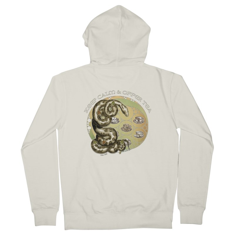 Tea Tee - Keep Calm & Offer Tea Women's French Terry Zip-Up Hoody by theatticshoppe's Artist Shop