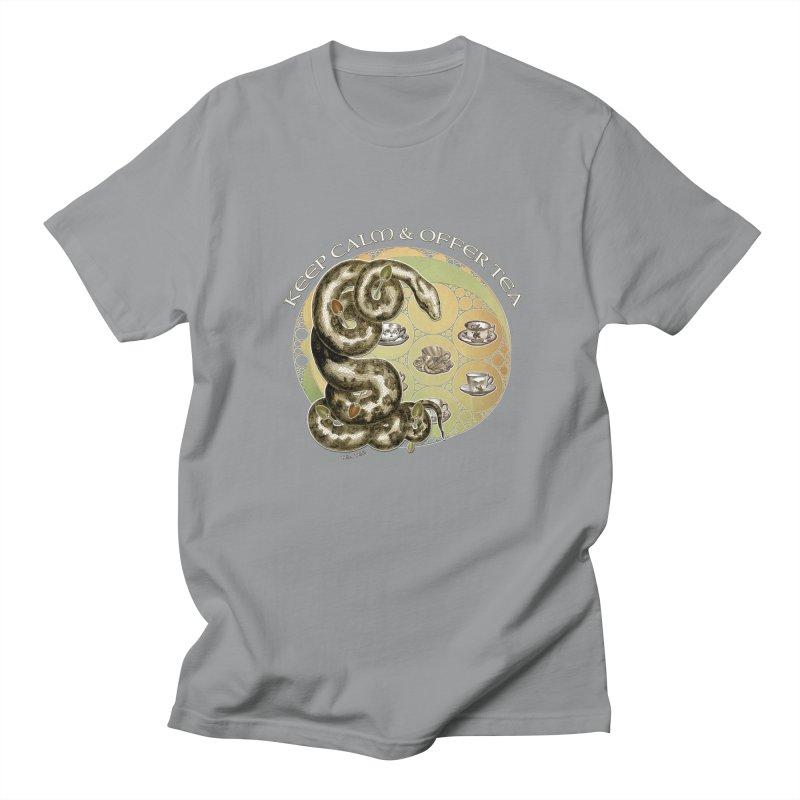 Tea Tee - Keep Calm & Offer Tea Men's Regular T-Shirt by theatticshoppe's Artist Shop