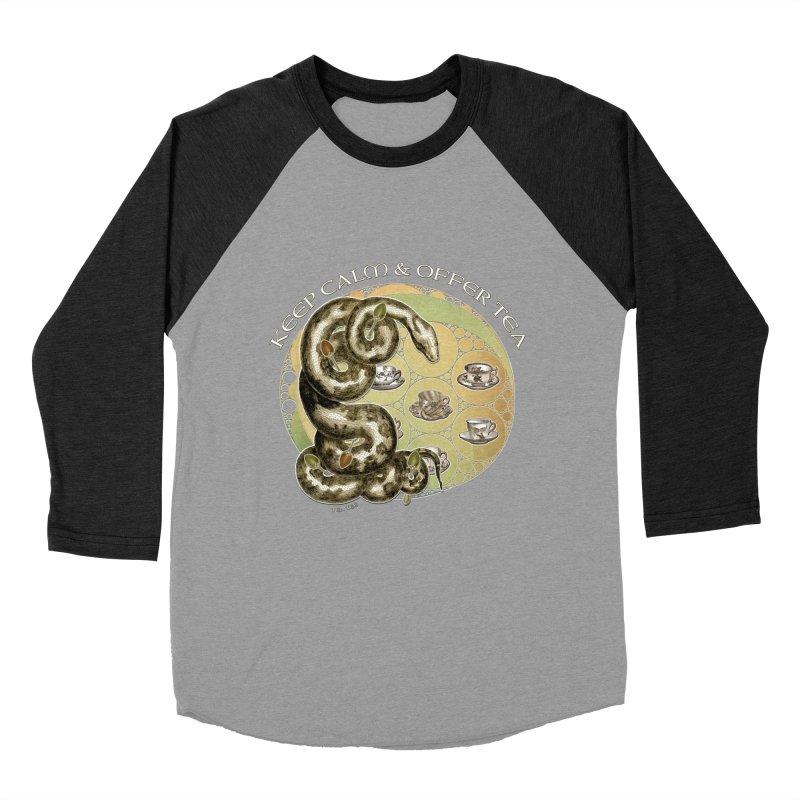 Tea Tee - Keep Calm & Offer Tea Women's Baseball Triblend Longsleeve T-Shirt by theatticshoppe's Artist Shop