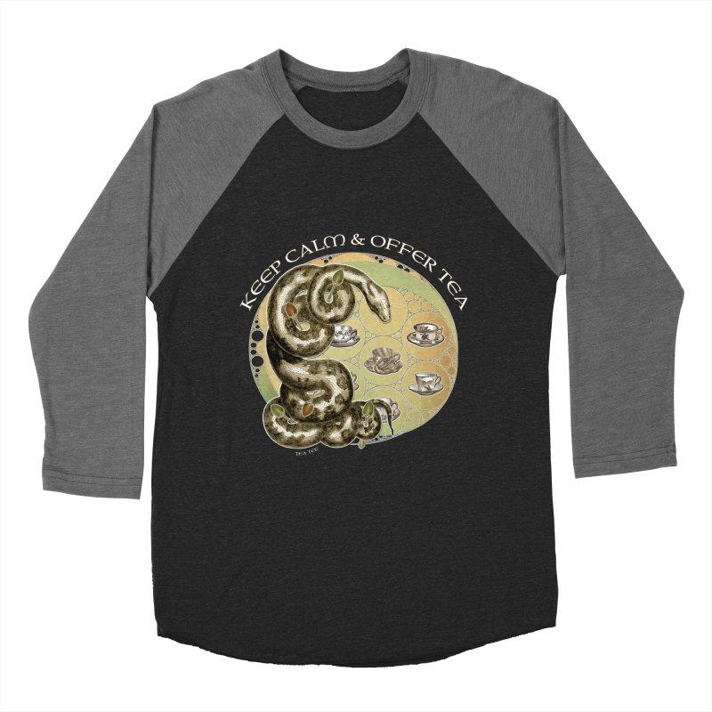 Tea Tee - Keep Calm & Offer Tea Men's Baseball Triblend T-Shirt by theatticshoppe's Artist Shop
