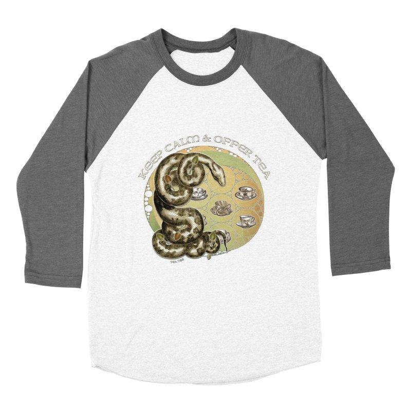 Tea Tee - Keep Calm & Offer Tea Men's Baseball Triblend Longsleeve T-Shirt by theatticshoppe's Artist Shop