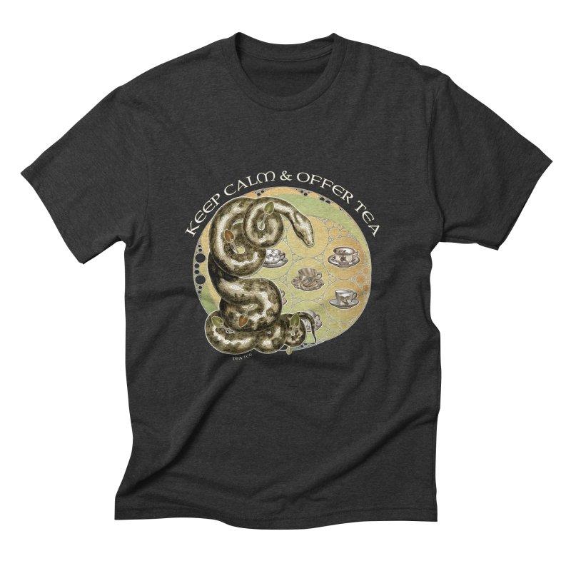 Tea Tee - Keep Calm & Offer Tea Men's Triblend T-shirt by theatticshoppe's Artist Shop