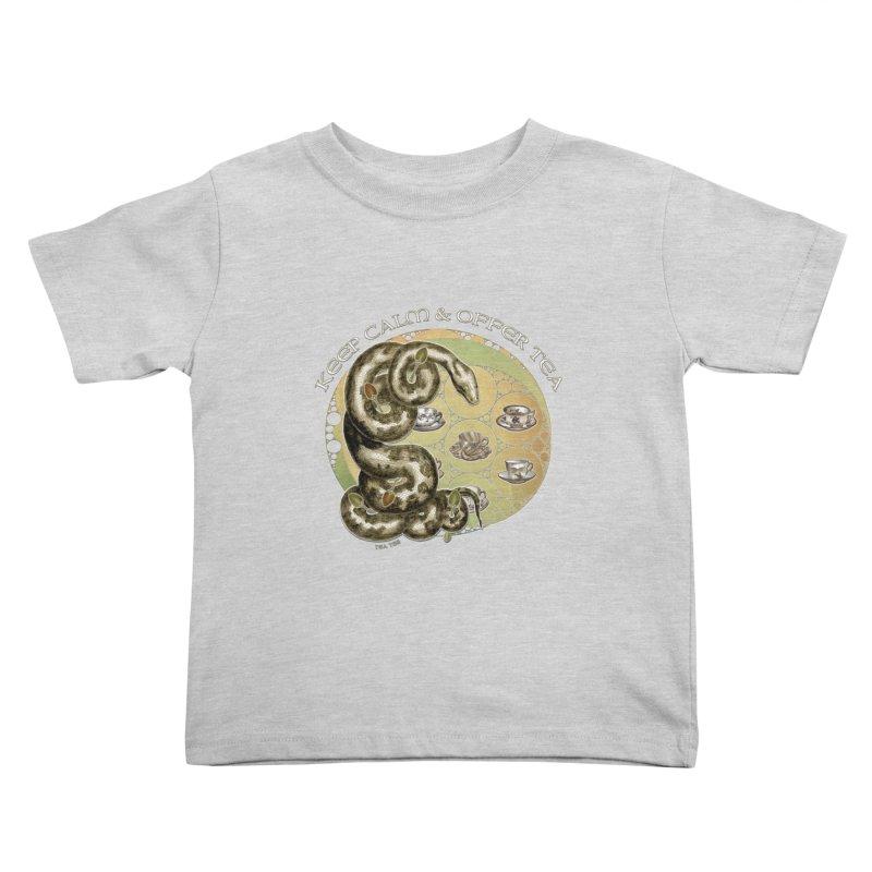 Tea Tee - Keep Calm & Offer Tea Kids Toddler T-Shirt by theatticshoppe's Artist Shop