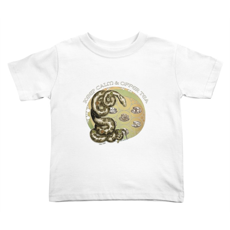 Tea Tee - Keep Calm & Offer Tea Kids Toddler T-Shirt by theatticshoppe's Artist Shop