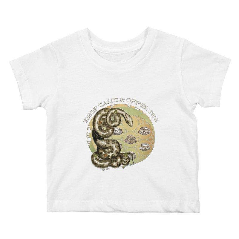Tea Tee - Keep Calm & Offer Tea Kids Baby T-Shirt by theatticshoppe's Artist Shop