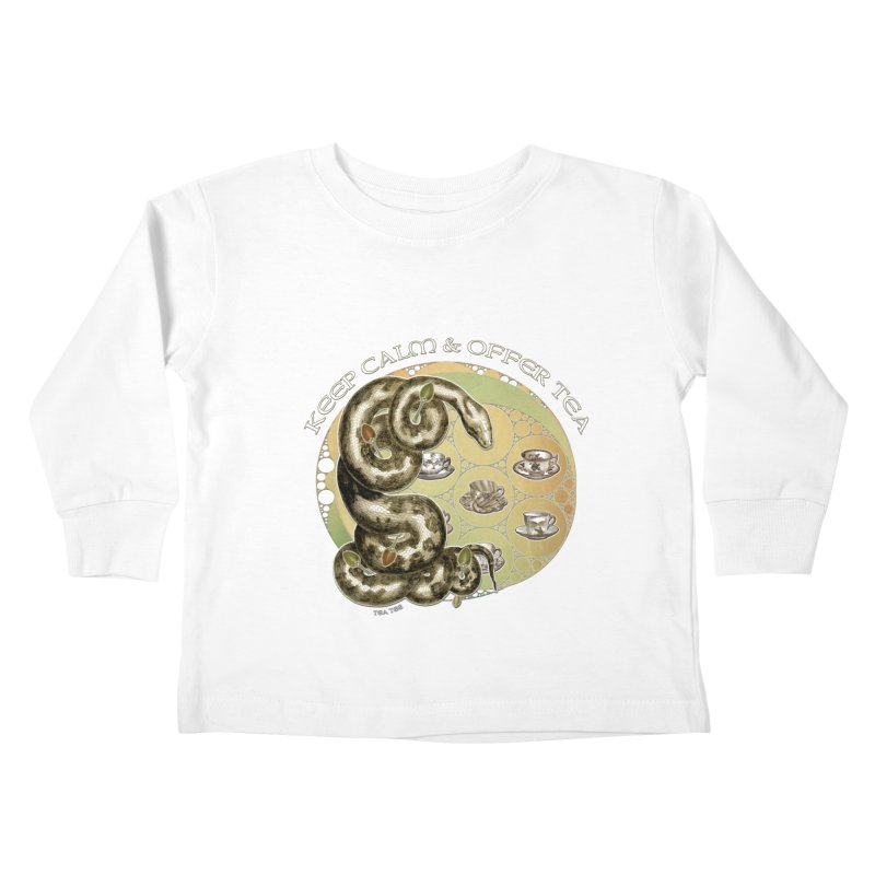 Tea Tee - Keep Calm & Offer Tea Kids Toddler Longsleeve T-Shirt by theatticshoppe's Artist Shop