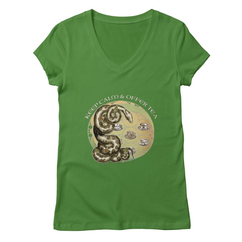 Tea Tee - Keep Calm & Offer Tea   by theatticshoppe's Artist Shop