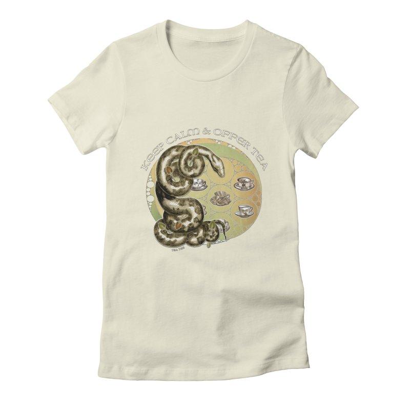 Tea Tee - Keep Calm & Offer Tea Women's Fitted T-Shirt by theatticshoppe's Artist Shop