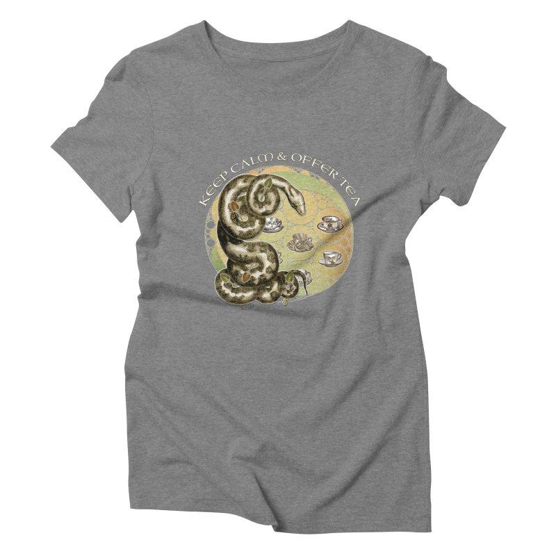 Tea Tee - Keep Calm & Offer Tea Women's Triblend T-Shirt by theatticshoppe's Artist Shop