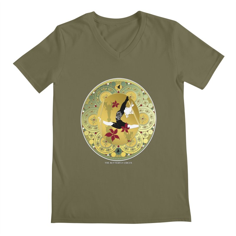 The Butterfly Circus Lenormand Flowers Men's Regular V-Neck by theatticshoppe's Artist Shop