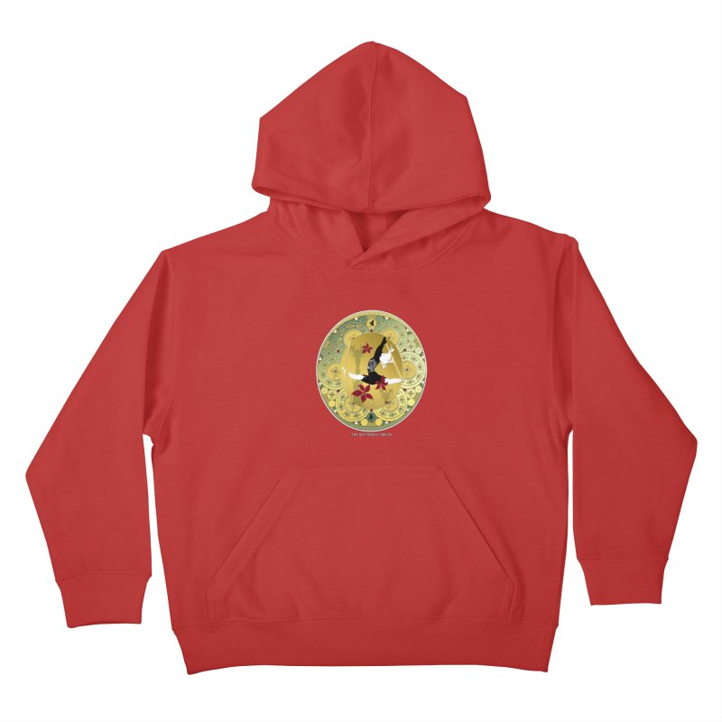 The Butterfly Circus Lenormand Flowers Landscape Kids Pullover Hoody by theatticshoppe's Artist Shop