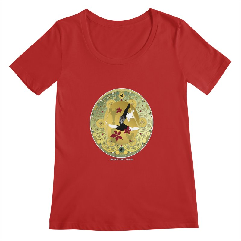 The Butterfly Circus Lenormand Flowers Women's Scoopneck by theatticshoppe's Artist Shop