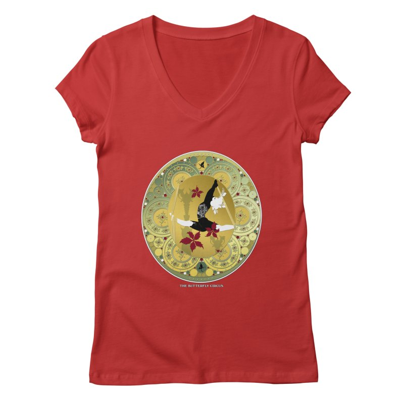 The Butterfly Circus Lenormand Flowers Women's V-Neck by theatticshoppe's Artist Shop