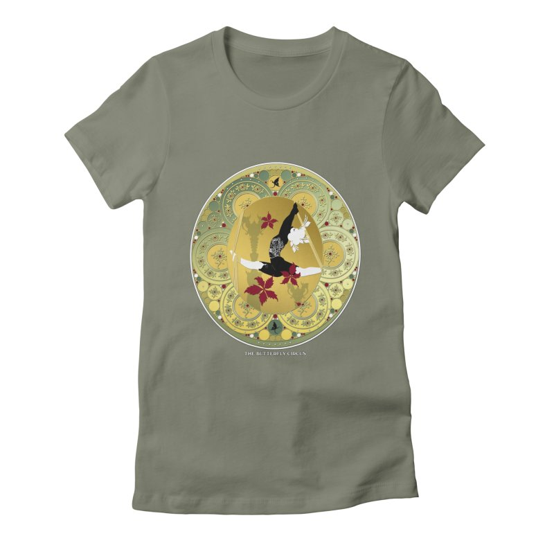 The Butterfly Circus Lenormand Flowers Landscape Women's Fitted T-Shirt by theatticshoppe's Artist Shop