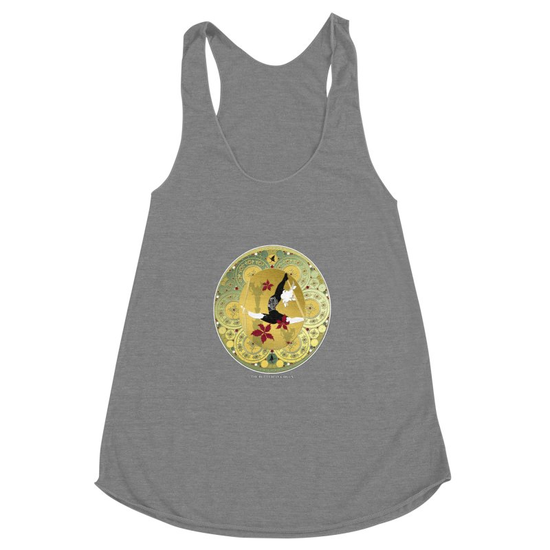 The Butterfly Circus Lenormand Flowers Women's Racerback Triblend Tank by theatticshoppe's Artist Shop