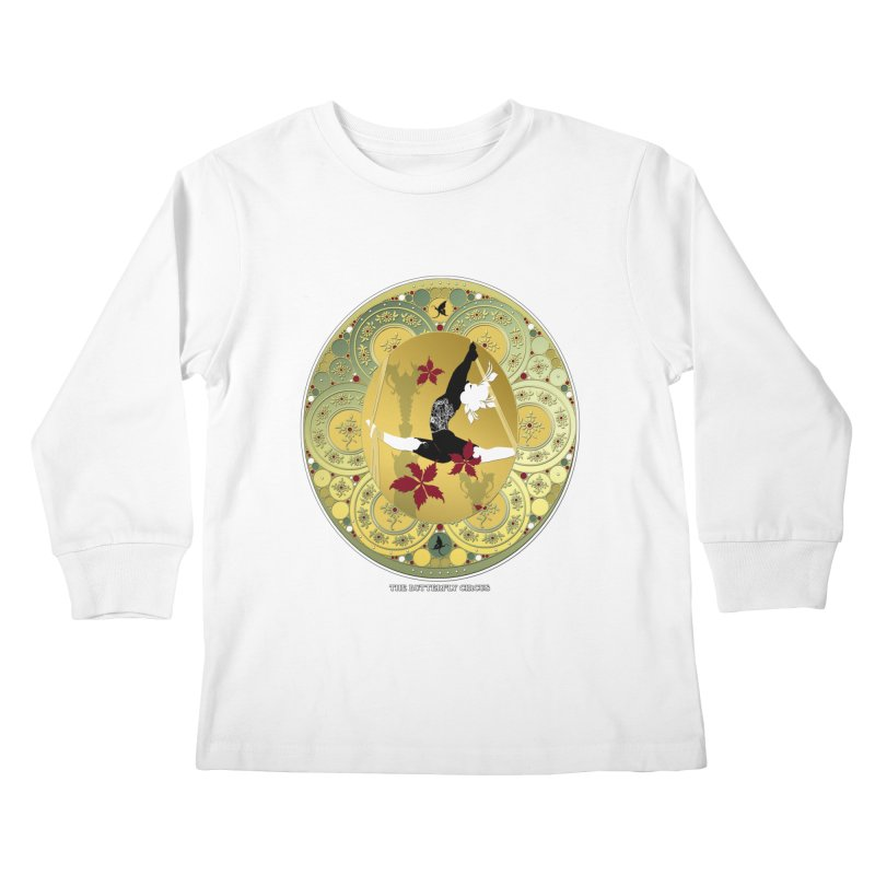 The Butterfly Circus Lenormand Flowers Kids Longsleeve T-Shirt by theatticshoppe's Artist Shop