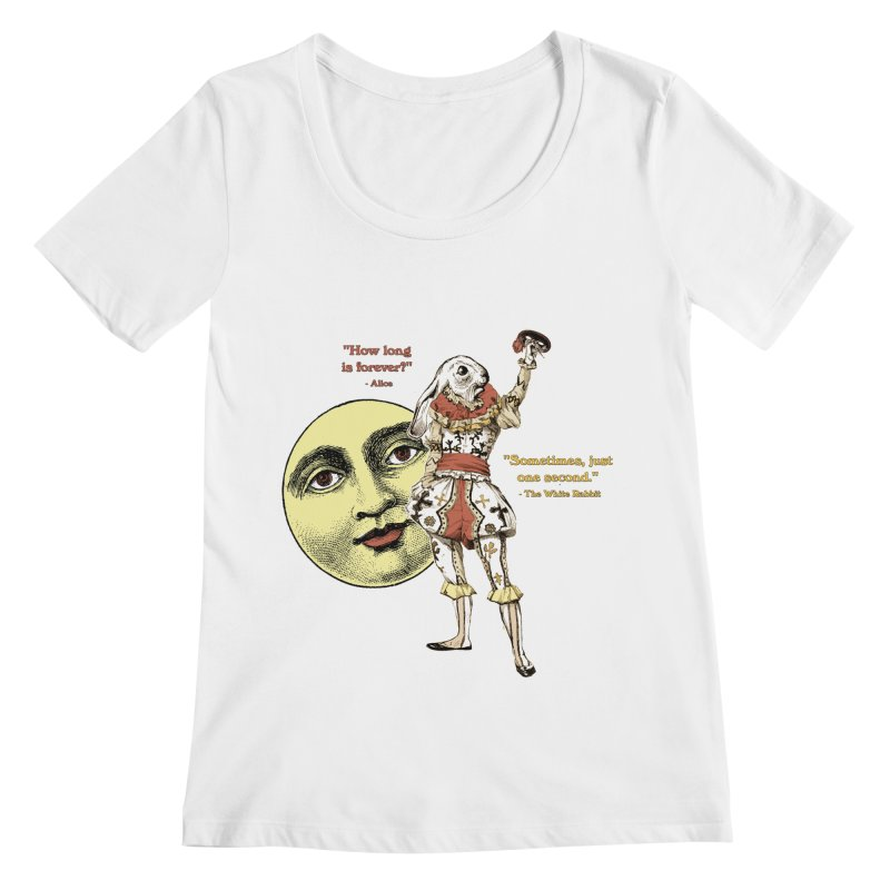 How Long is Forever? Women's Regular Scoop Neck by theatticshoppe's Artist Shop
