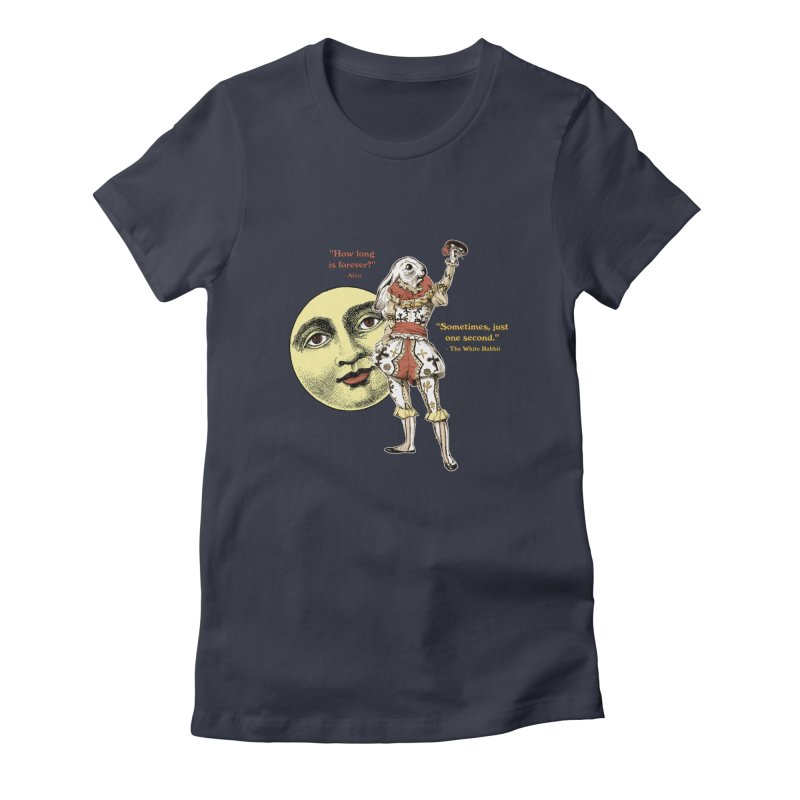 How Long is Forever? Women's Fitted T-Shirt by theatticshoppe's Artist Shop