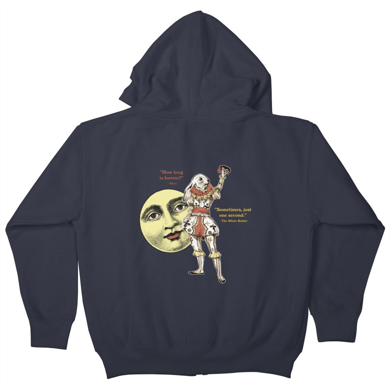How Long is Forever? Kids Zip-Up Hoody by theatticshoppe's Artist Shop