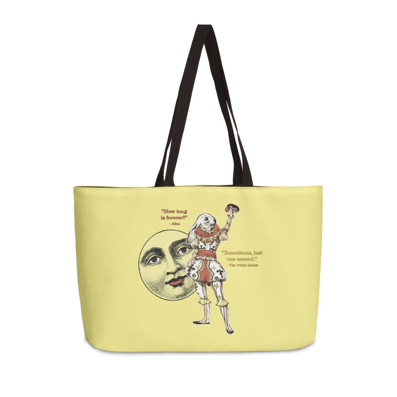 How Long is Forever? Accessories Weekender Bag Bag by theatticshoppe's Artist Shop