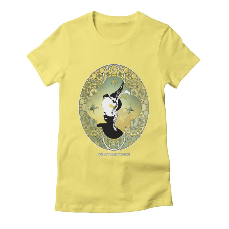 The Butterfly Circus Lily  Women's Fitted T-Shirt by theatticshoppe's Artist Shop