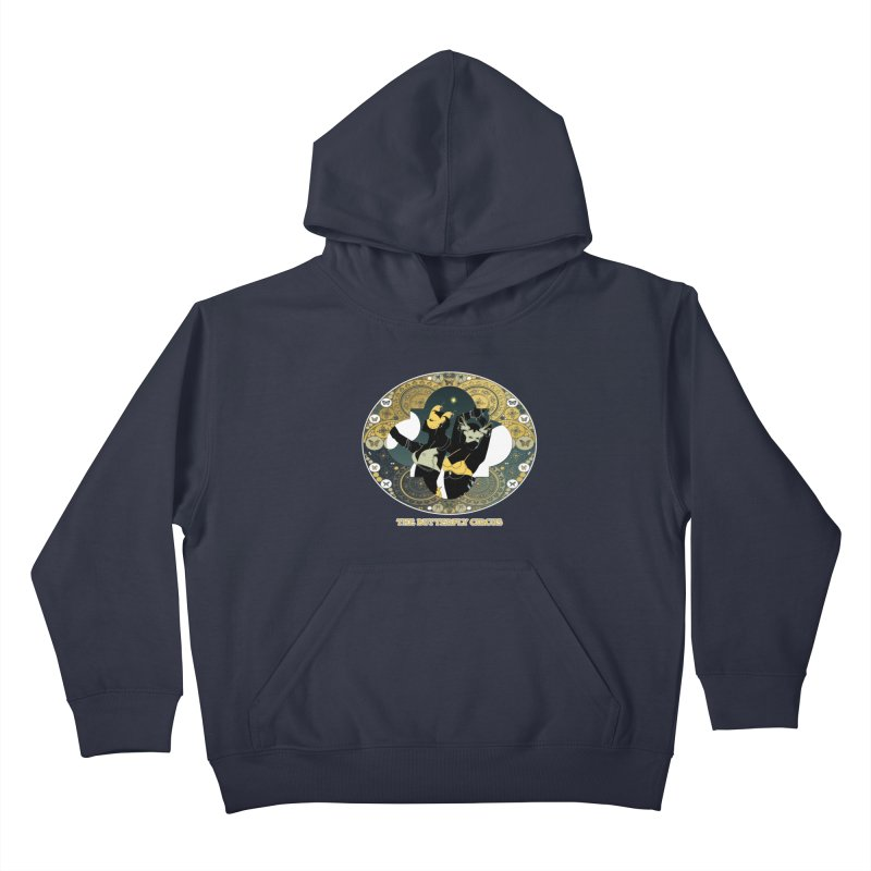 The Butterfly Circus Stars Landscape Kids Pullover Hoody by theatticshoppe's Artist Shop