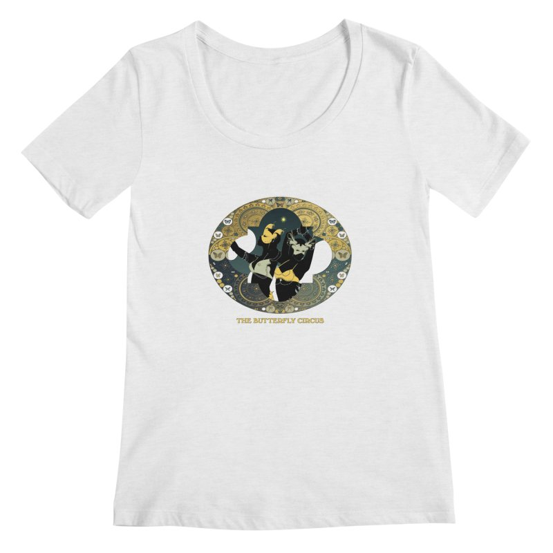 The Butterfly Circus Stars Landscape Women's Scoopneck by theatticshoppe's Artist Shop