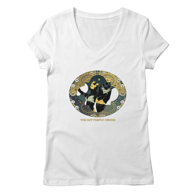The Butterfly Circus Stars Landscape Women's V-Neck by theatticshoppe's Artist Shop