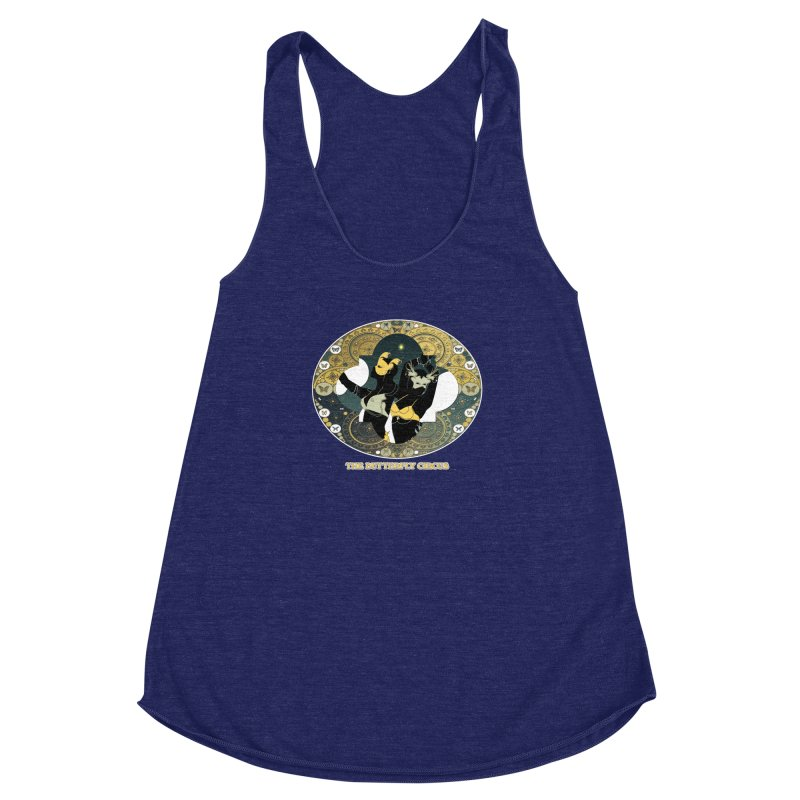 The Butterfly Circus Stars Landscape Women's Racerback Triblend Tank by theatticshoppe's Artist Shop