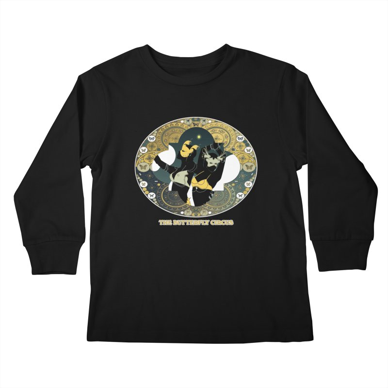 The Butterfly Circus Stars Landscape Kids Longsleeve T-Shirt by theatticshoppe's Artist Shop