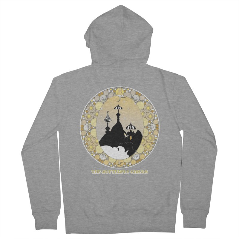 The Butterfly Circus Lenormand Mountain Design Men's French Terry Zip-Up Hoody by theatticshoppe's Artist Shop
