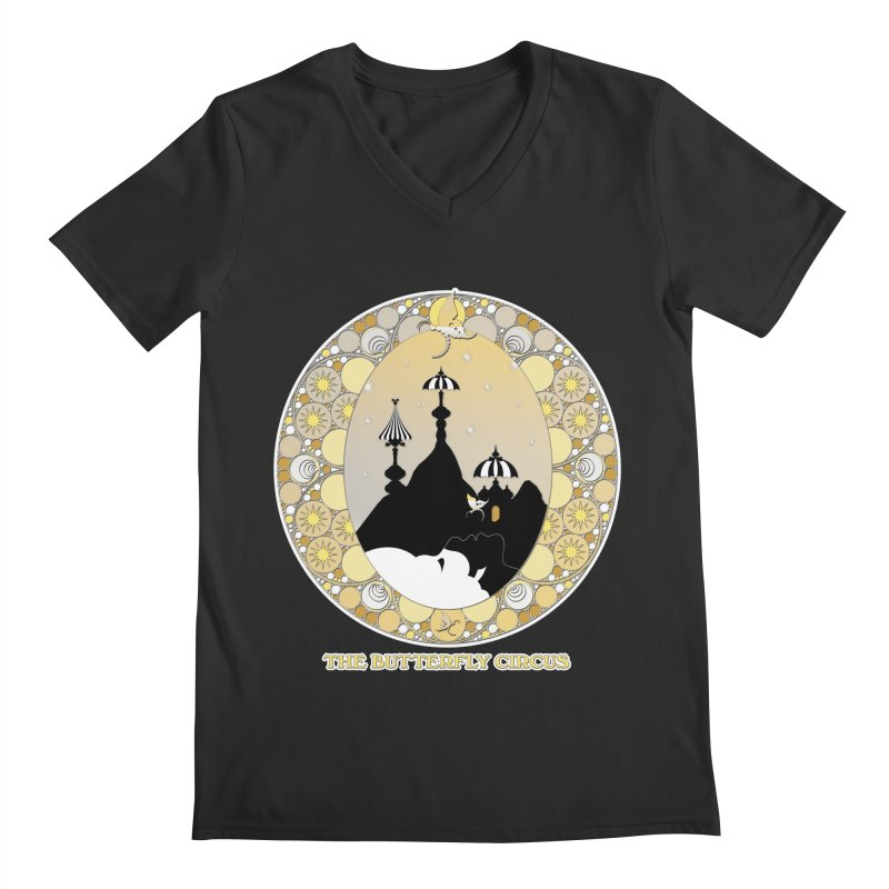 The Butterfly Circus Lenormand Mountain Design Men's Regular V-Neck by theatticshoppe's Artist Shop