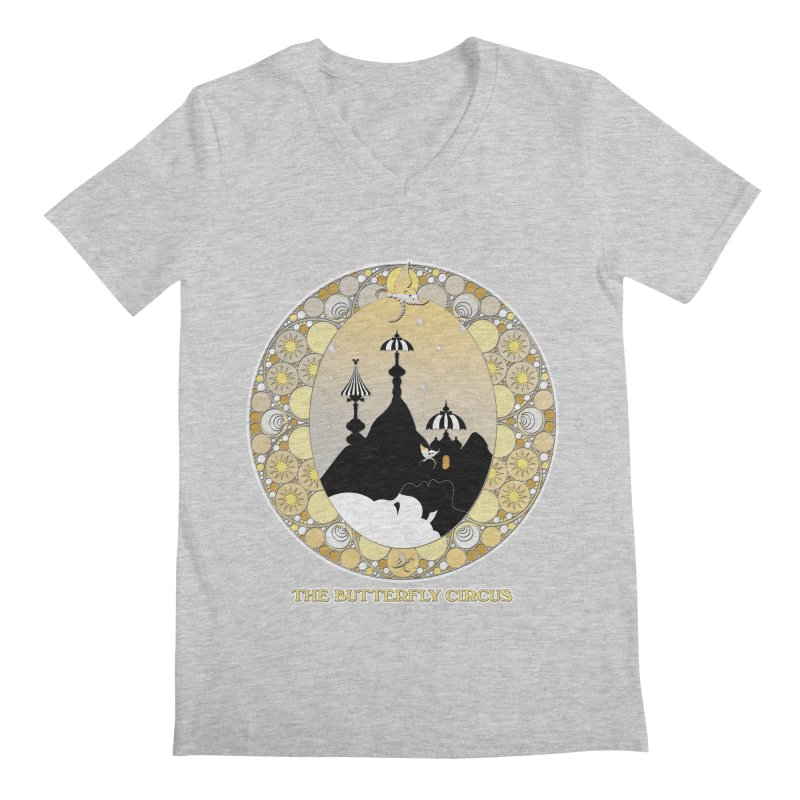 The Butterfly Circus Lenormand Mountain Design Men's V-Neck by theatticshoppe's Artist Shop
