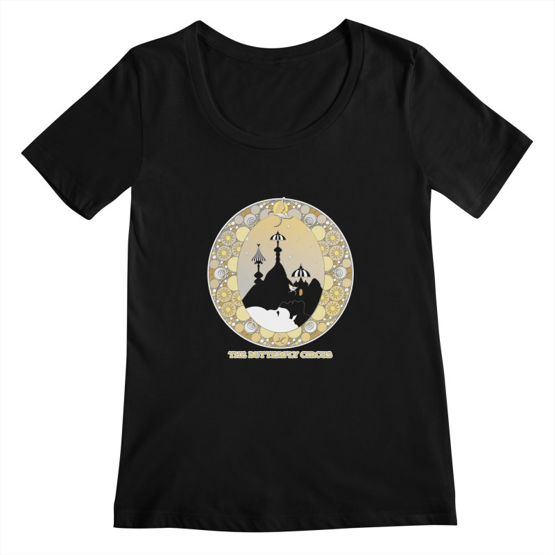 The Butterfly Circus Lenormand Mountain Design Women's Scoopneck by theatticshoppe's Artist Shop