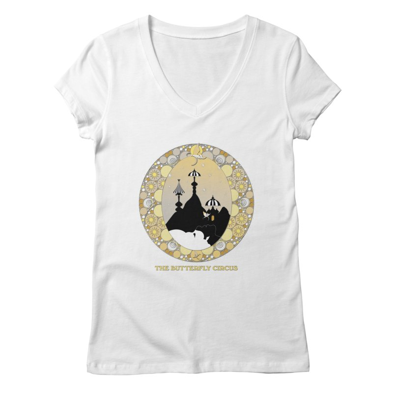 The Butterfly Circus Lenormand Mountain Design Women's V-Neck by theatticshoppe's Artist Shop