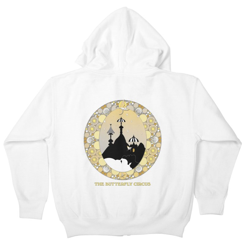The Butterfly Circus Lenormand Mountain Design Kids Zip-Up Hoody by theatticshoppe's Artist Shop