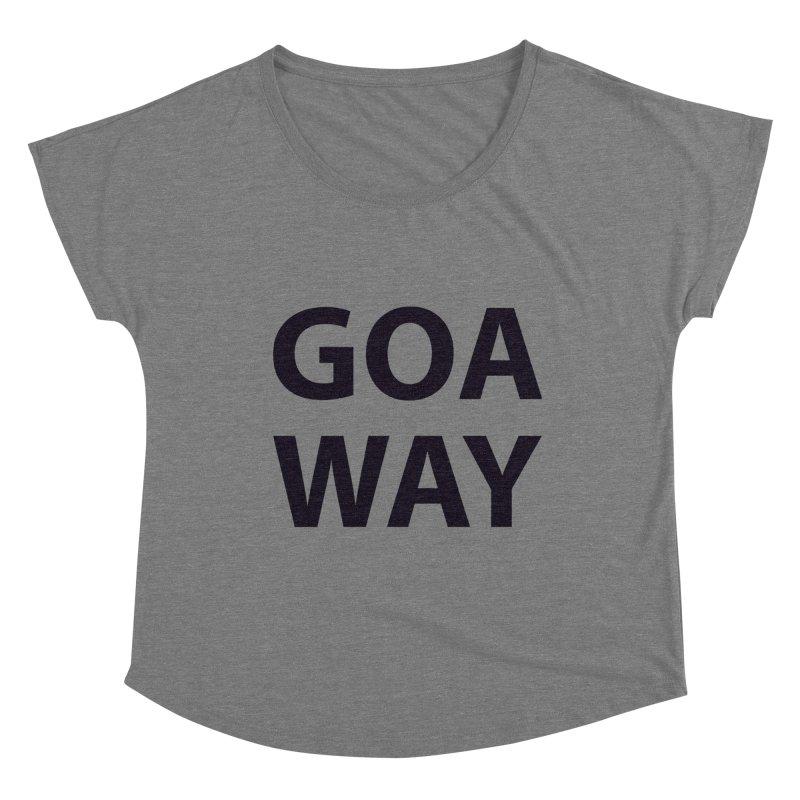 GO AWAY Women's Scoop Neck by theawkwardmind's Artist Shop