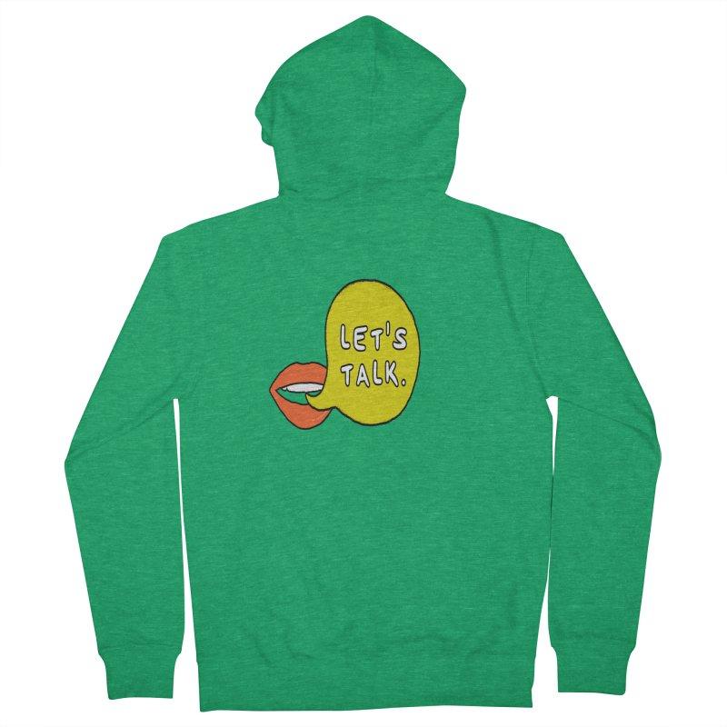 Let's Talk Men's Zip-Up Hoody by theawkwardmind's Artist Shop