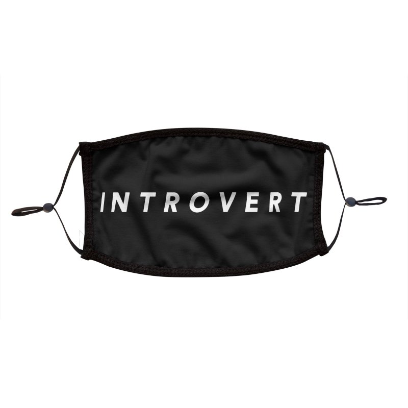 Introvert Classic (White Letters) Accessories Face Mask by theawkwardmind's Artist Shop
