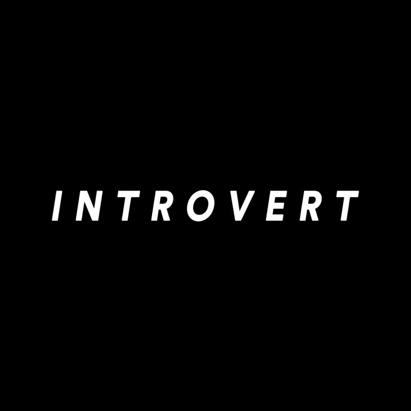 Introvert Classic (White Letters) Accessories Sticker by theawkwardmind's Artist Shop