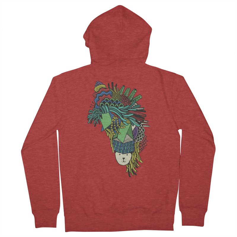 Colorful Vegetables Men's Zip-Up Hoody by The Babybirds
