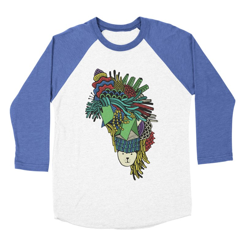Colorful Vegetables Men's Baseball Triblend Longsleeve T-Shirt by The Babybirds