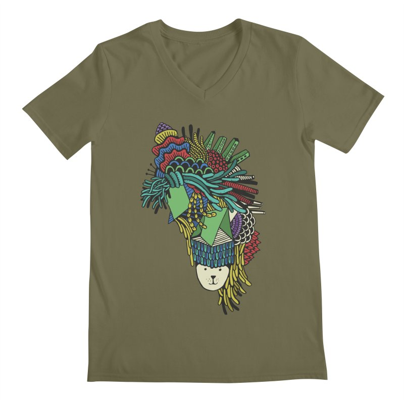 Colorful Vegetables Men's V-Neck by The Babybirds