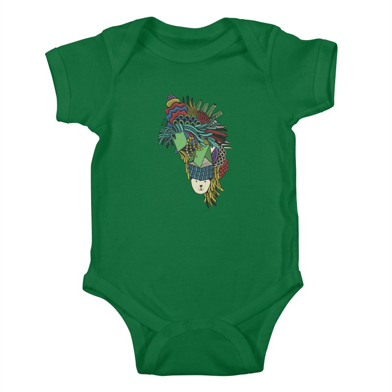 Colorful Vegetables Kids Baby Bodysuit by The Babybirds