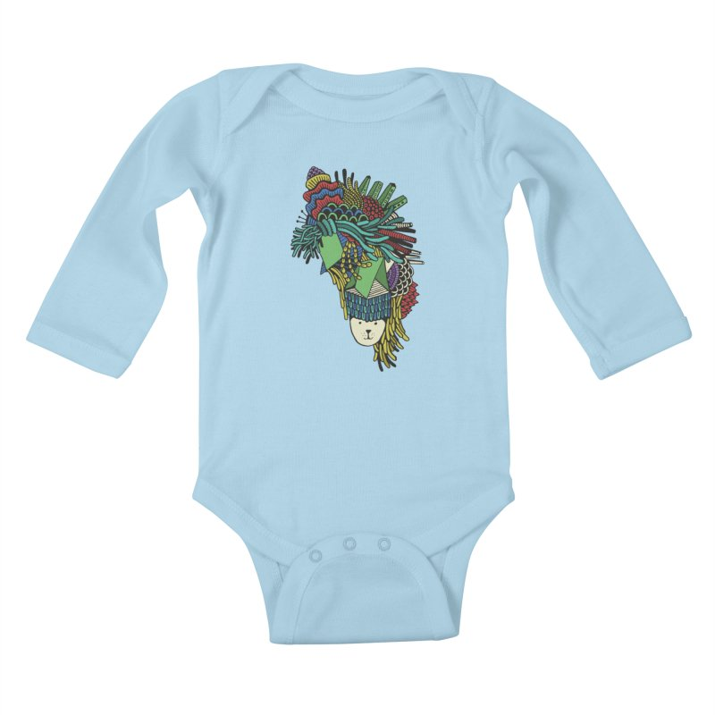 Colorful Vegetables Kids Baby Longsleeve Bodysuit by The Babybirds