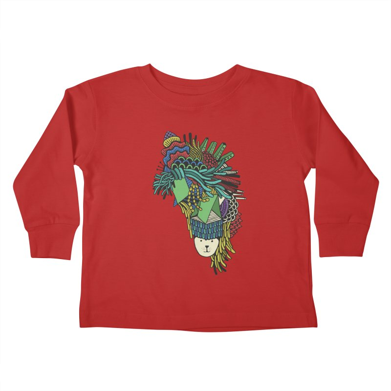 Colorful Vegetables Kids Toddler Longsleeve T-Shirt by The Babybirds